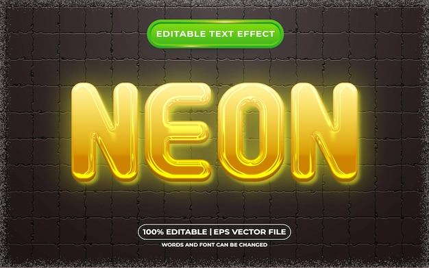 Bearbeitbarer texteffekt neonlichtstil