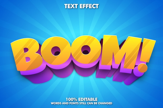 Bearbeitbarer texteffekt, niedliche typografie für cartoon-titel