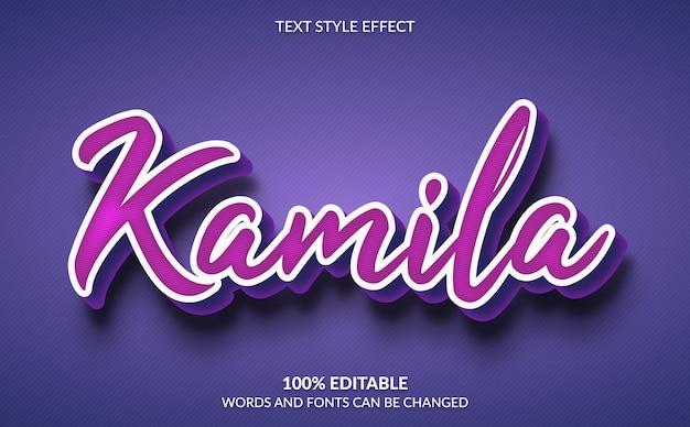 Bearbeitbarer texteffekt, niedlicher lila textstil