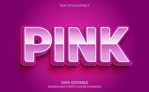 Bearbeitbarer texteffekt, niedlicher rosa textstil