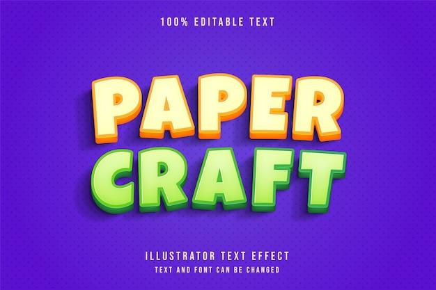 Bearbeitbarer texteffekt orangegrüner karikaturstil 3d