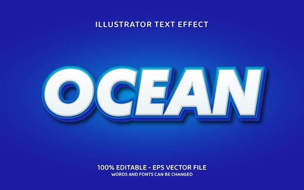 Bearbeitbarer texteffekt, ozeanartillustrationen