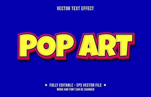 Bearbeitbarer texteffekt pop art moderner stil