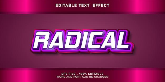 Bearbeitbarer texteffekt radikal