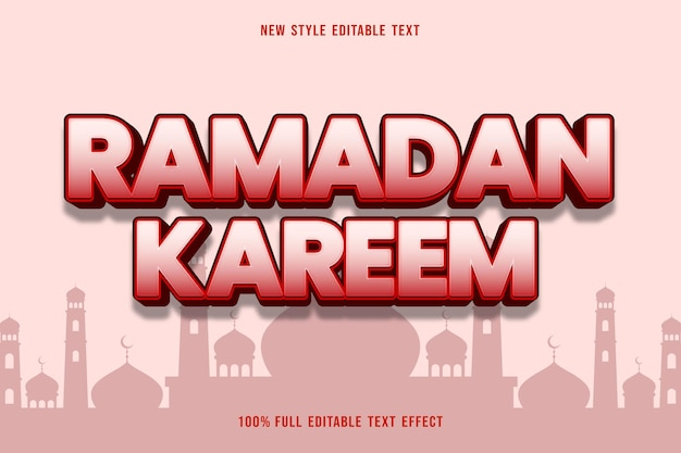Bearbeitbarer texteffekt ramadan kareem style pink
