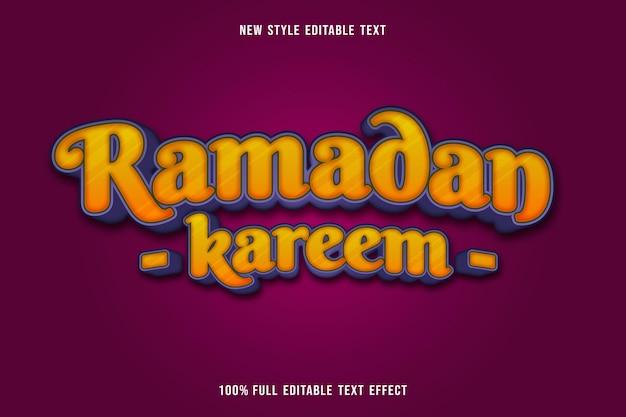 Bearbeitbarer texteffekt ramadan mubarak farbe gold