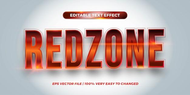 Bearbeitbarer texteffekt - redzone-textstil