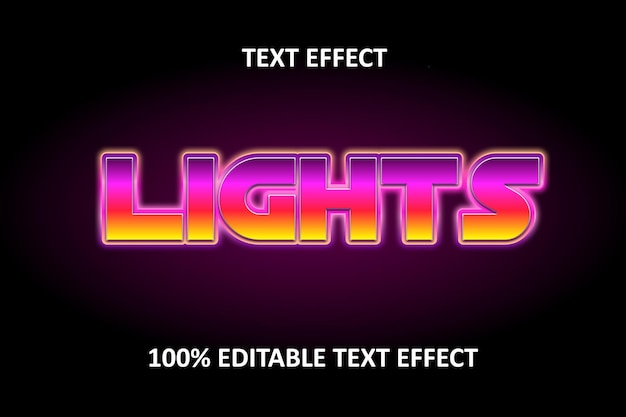 Bearbeitbarer texteffekt regenbogen rosa