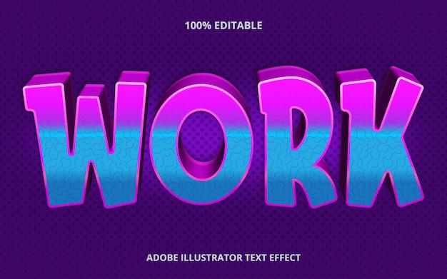 Bearbeitbarer texteffekt - retro-stil