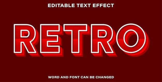 Bearbeitbarer texteffekt - retro