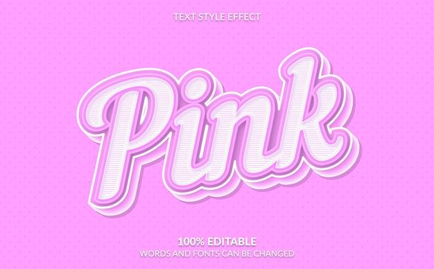 Bearbeitbarer texteffekt, rosa textstil