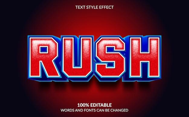 Bearbeitbarer texteffekt, rush text style