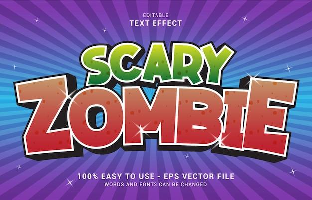 Bearbeitbarer texteffekt, scary zombie-stil kann verwendet werden, um titel zu erstellen