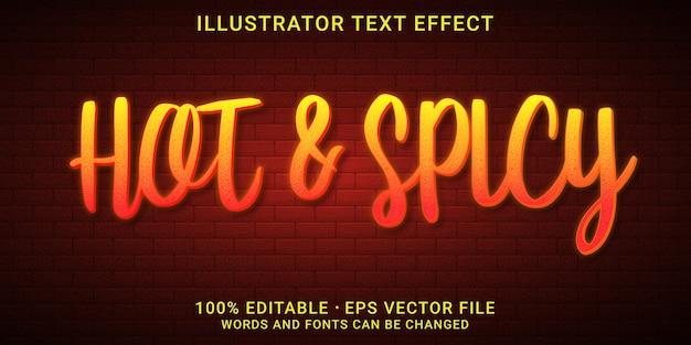 Bearbeitbarer texteffekt scharf und würzig stil