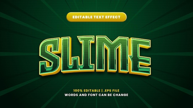 Bearbeitbarer texteffekt schleim im modernen 3d-stil