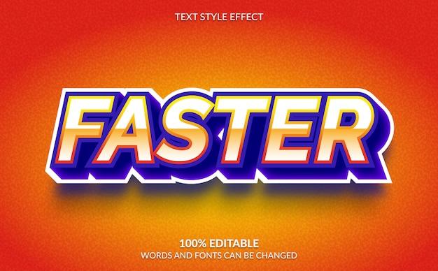 Bearbeitbarer texteffekt, schnellerer textstil