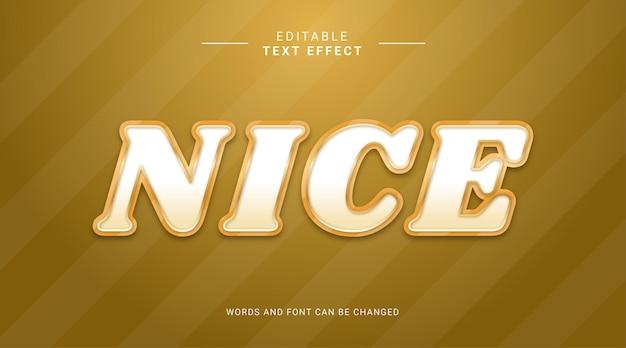 Bearbeitbarer texteffekt schöne goldene farbverlaufsfarbe fetter moderner stil