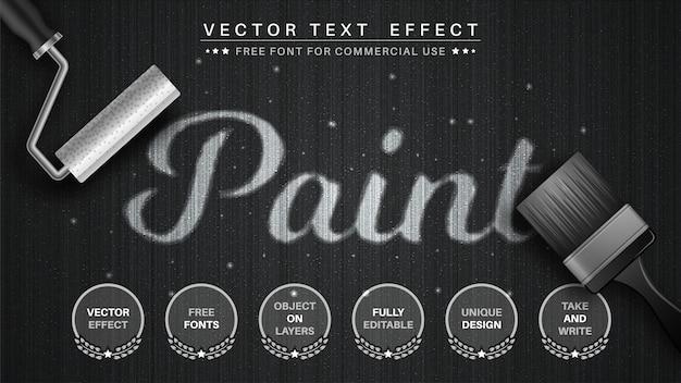 Bearbeitbarer texteffekt-schriftstil des aquarells