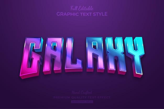 Bearbeitbarer texteffekt-schriftstil für galaxy-farbverläufe