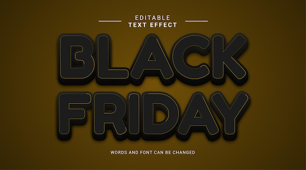 Bearbeitbarer texteffekt schwarzer freitag verkauf eleganter stil goldfarbe