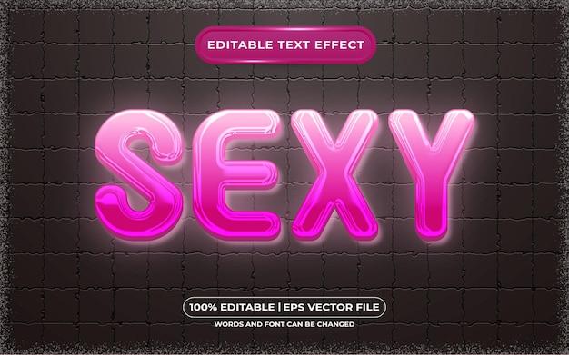 Bearbeitbarer texteffekt sexy lichtstil