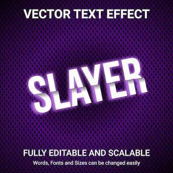 Bearbeitbarer texteffekt - slayer-textstil