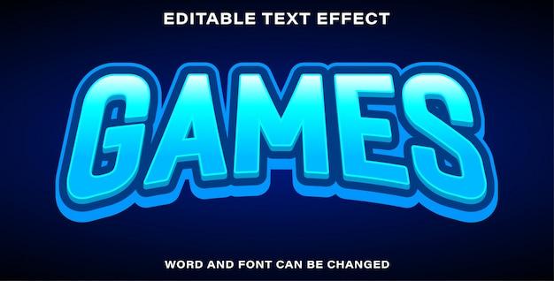 Bearbeitbarer texteffekt - spiele