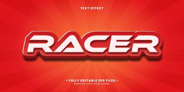 Bearbeitbarer texteffekt - spielstil für sportrennfahrer