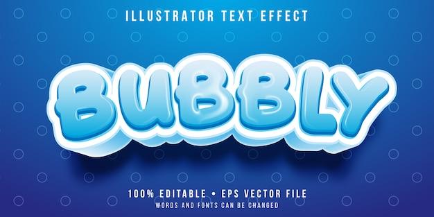 Bearbeitbarer texteffekt - sprudelnder cartoon-stil