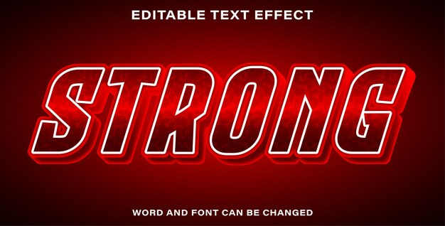 Bearbeitbarer texteffekt stark