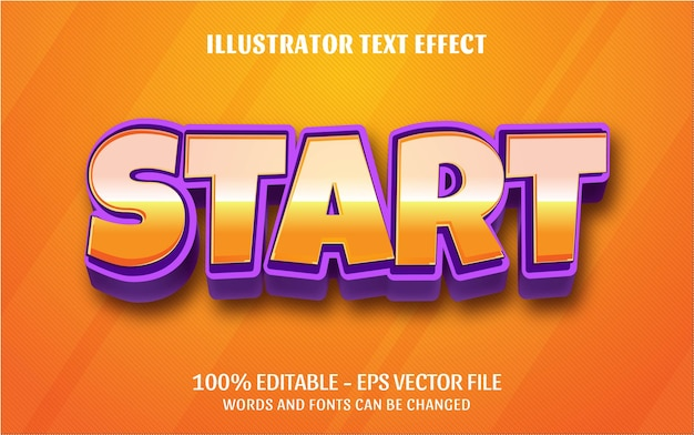 Bearbeitbarer texteffekt, starten sie stilillustrationen