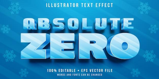 Bearbeitbarer texteffekt - stil eingefrorener buchstaben
