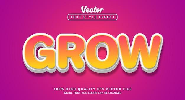 Bearbeitbarer texteffekt, text im mehrfarbigen stil wachsen lassen