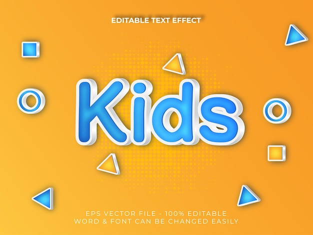 Bearbeitbarer texteffekt texteffektstil für kinderbereich