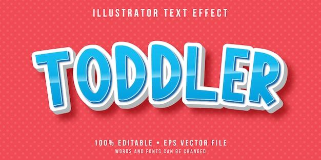 Bearbeitbarer texteffekt - textstil für kleinkinder