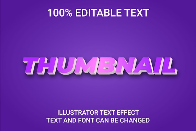 Bearbeitbarer texteffekt - thumbnail-textstil