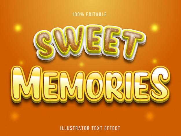 Bearbeitbarer texteffekt - titelstil für süße erinnerungen