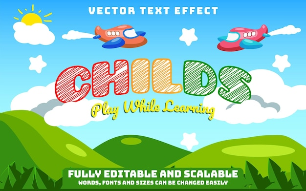 Bearbeitbarer texteffekt und text ändern
