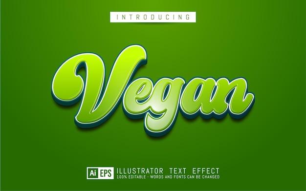 Bearbeitbarer texteffekt veganes textstilkonzept