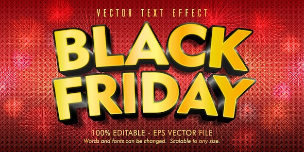 Bearbeitbarer texteffekt von black friday