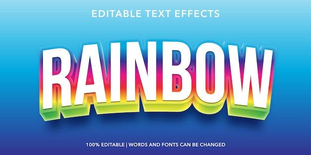 Bearbeitbarer texteffekt von rinbow