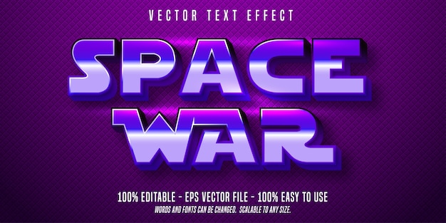 Bearbeitbarer texteffekt von space war