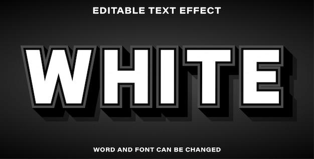Bearbeitbarer texteffekt weiß
