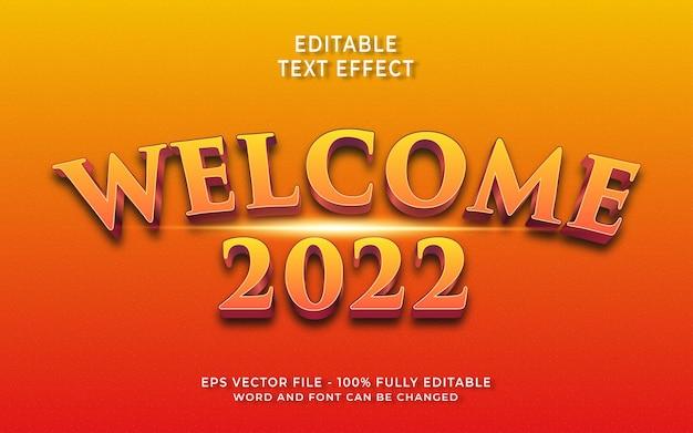 Bearbeitbarer texteffekt willkommen 2022