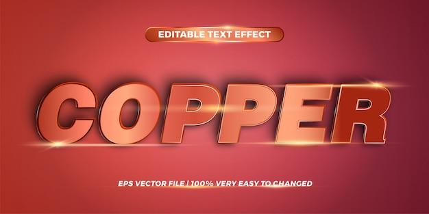 Bearbeitbarer texteffekt - word copper