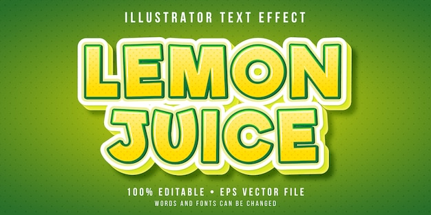 Bearbeitbarer texteffekt - zitronenfruchtart
