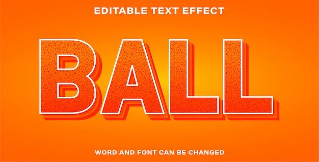 Bearbeitbarer texteffektball