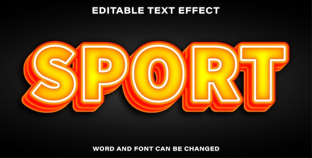 Bearbeitbarer texteffektsport
