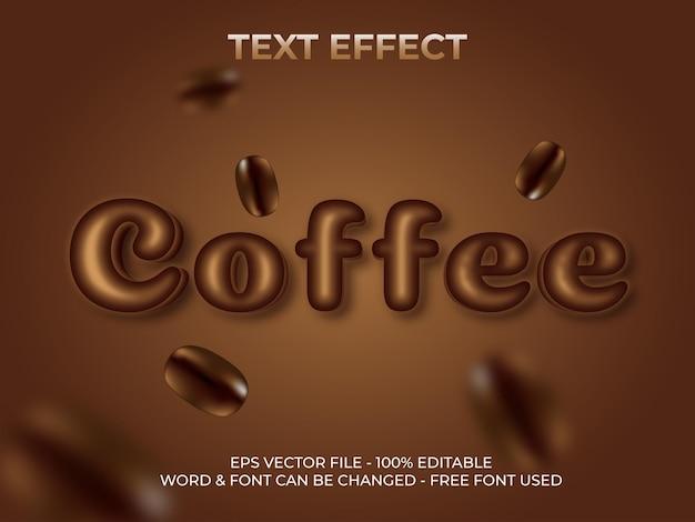 Bearbeitbarer texteffektstil für kaffee