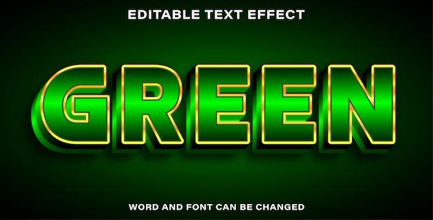 Bearbeitbarer texteffektstil grün